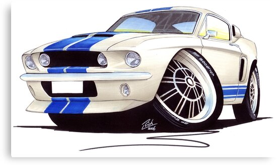 Shelby Mustang GT500 (60s) by Richard Yeomans