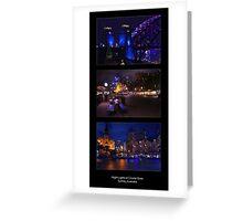 Night lights at Circular Quay Greeting Card
