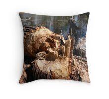 Beaver Skull Throw Pillow