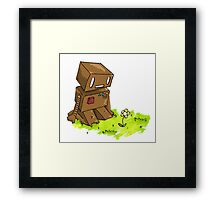 Robot Flower Framed Print