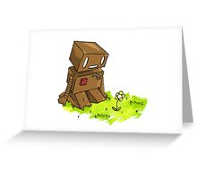 Robot Flower Greeting Card