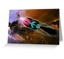 A Cruiser Interceptor on Patrol at the Fairy of Eagle Nebula Greeting Card