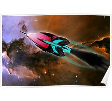 A Cruiser Interceptor on Patrol at the Fairy of Eagle Nebula Poster