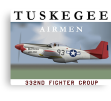 P-51D Mustang, Tuskegee Airmen Canvas Print