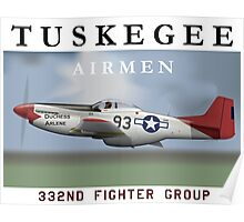 P-51D Mustang, Tuskegee Airmen Poster