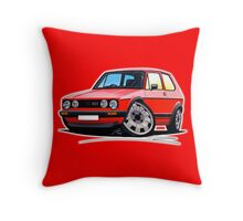 VW Golf GTi (Mk1) Red Throw Pillow
