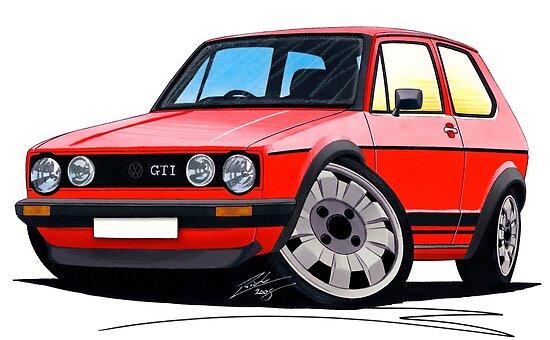 VW Golf GTi (Mk1) Red by Richard Yeomans