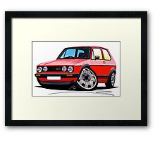 VW Golf GTi (Mk1) Red Framed Print