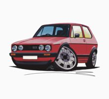 VW Golf GTi (Mk1) Red by Richard Yeomans