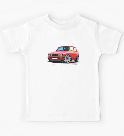 VW Golf GTi (Mk1) Red Kids Tee