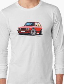 VW Golf GTi (Mk1) Red Long Sleeve T-Shirt