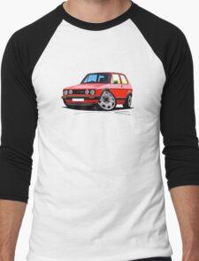 VW Golf GTi (Mk1) Red Men's Baseball ¾ T-Shirt