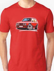 VW Golf GTi (Mk1) Red Unisex T-Shirt