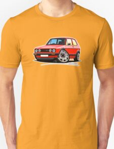 VW Golf GTi (Mk1) Red T-Shirt