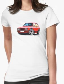 VW Golf GTi (Mk1) Red Womens Fitted T-Shirt