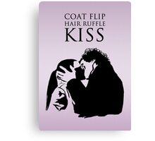 Sherlock and Molly Kiss II Canvas Print