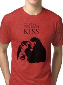 Sherlock and Molly Kiss II Tri-blend T-Shirt