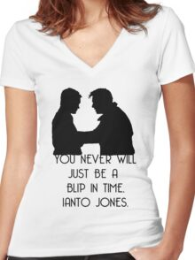 Blip In Time Women's Fitted V-Neck T-Shirt