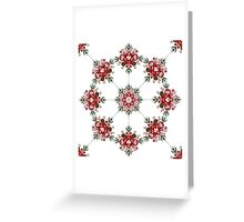 Christmas Poinsettia Inspired Pattern  Greeting Card