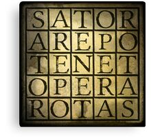 SATOR Square Canvas Print