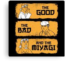 The Good, The Bad, And The Miyagi Canvas Print
