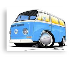 VW Bay (Early) Light Blue Canvas Print