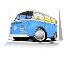 VW Bay (Early) Light Blue Greeting Card