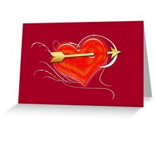 Heart and arrow Greeting Card