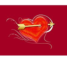 Heart and arrow Photographic Print