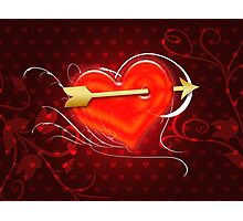 Heart and arrow 2 Photographic Print