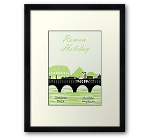 Roman Holiday poster and t-shirts Framed Print
