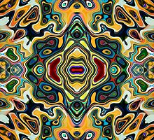 Colorful Symmetric Abstract by Phil Perkins