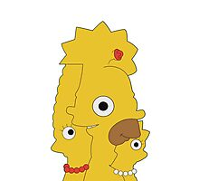The Simpsons character mash Photographic Print