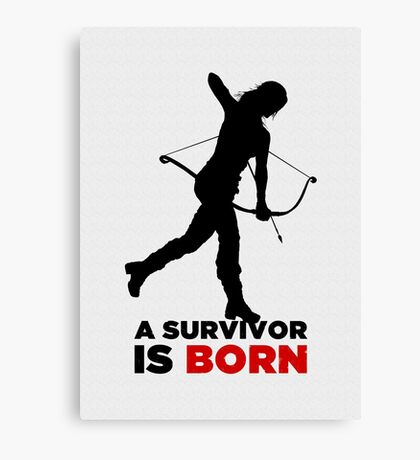 A Survivor is Born [black] Canvas Print