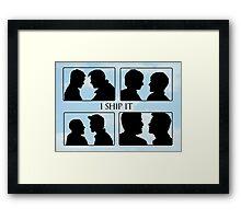 I Ship it V Framed Print