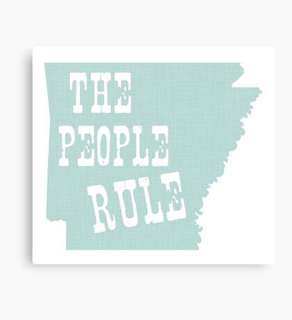 Arkansas State Motto Slogan Canvas Print