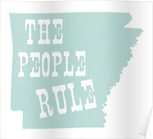 Arkansas State Motto Slogan Poster