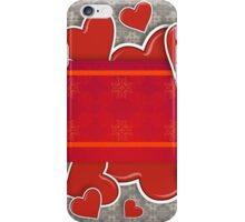 Hearts on vintage background 2 iPhone Case/Skin