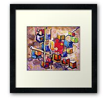 PUZZLE PIECE MATCH Framed Print