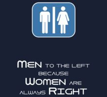 Men to the Left Because Women Are Always Right Kids Clothes