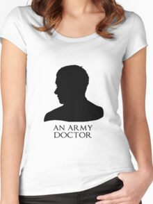 An Army Doctor. Women's Fitted Scoop T-Shirt