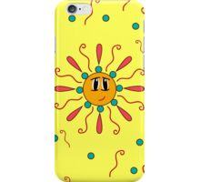 seamless pattern with the image of a smiling sun iPhone Case/Skin