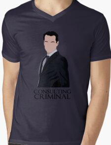 Consulting Criminal Mens V-Neck T-Shirt