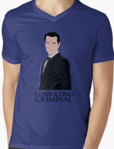 Consulting Criminal Mens V-Neck T-Shirt