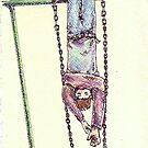 Hanging from a swing by Tabita Harvey