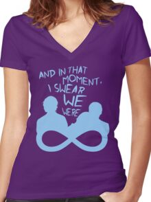 I Swear We Were Infinite III Women's Fitted V-Neck T-Shirt