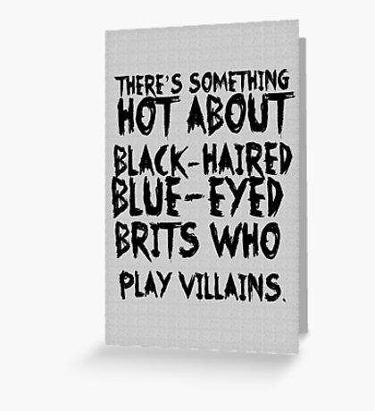 British Villains Greeting Card