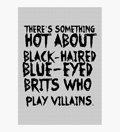 British Villains Photographic Print