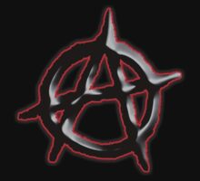 ANARCHY, Revolution, Protest, Disorder, Unrest, Symbol on red in black Kids Clothes
