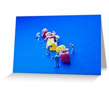 The great Jelly Baby Massacre! Greeting Card